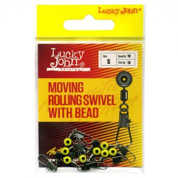 Lucky John Durchlaufwirbel - Moving Rolling Swivel With Bead